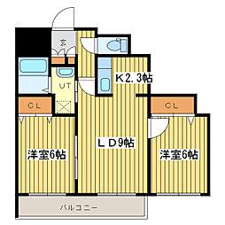 テラセル48[2階]の間取り