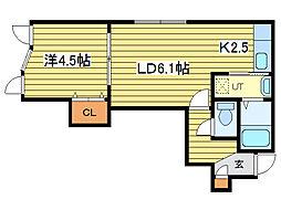 コンフォート新道東壱番館[3階]の間取り