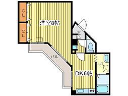 元町メイワ[6階]の間取り