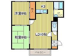 ルミナス26(北26東6)[2階]の間取り