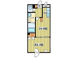 マイクレストN21[2階]の間取り