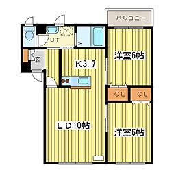 ピュアメゾンM[2階]の間取り