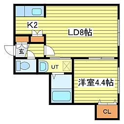 レユシール北25条[2階]の間取り