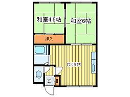 豊田第4マンション[1階]の間取り