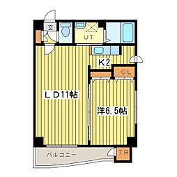 ハルバード24[10階]の間取り