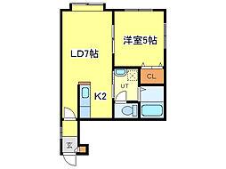 Lu.Miton[3階]の間取り