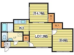 ?NEXT札幌第19[4階]の間取り