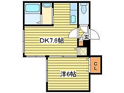 ビジュ元町[1階]の間取り
