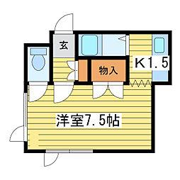 センチュリー2−3[5階]の間取り