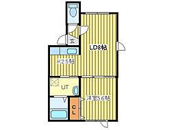 E・Mハウス[2階]の間取り