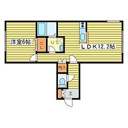パークサイド42[2階]の間取り