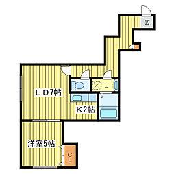 ル・ヴァンベール[2階]の間取り