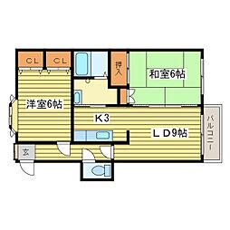 エトワール伏古A棟[3階]の間取り