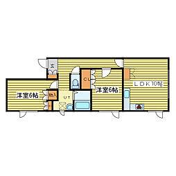 エルピスハウス[2階]の間取り