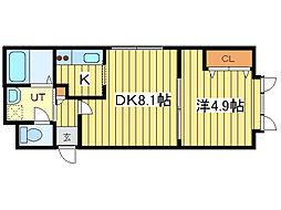 ハレルヤ元町[1階]の間取り