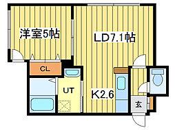 Takara East Placeタカライーストプレイス[1階]の間取り