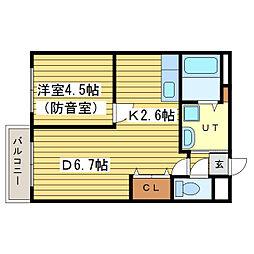 セントポーリアフラン[2階]の間取り