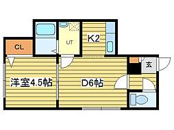 ウイングコート札幌II[2階]の間取り