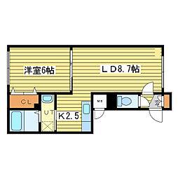 ボヌールN33[3階]の間取り