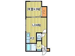 リーフコートN16[2階]の間取り