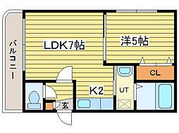 Huga Cottage(ヒューガコテージ)[3階]の間取り