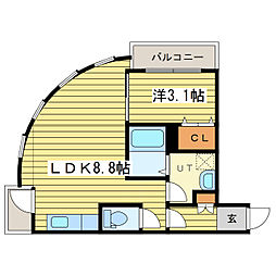 レジデンスタワー札幌[15階]の間取り