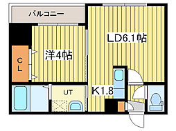 レジデンスタワー札幌[10階]の間取り