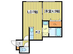 KSコムズ[2階]の間取り