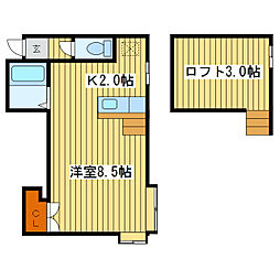 アイビーパレス13 A棟[2階]の間取り