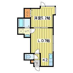 カーザ・フェリスN39[2階]の間取り