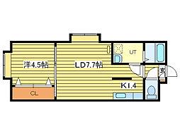 ラクシス札幌[1階]の間取り