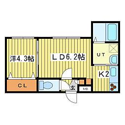 北海道札幌市豊平区平岸三条4丁目の賃貸マンションの間取り