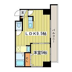 N25E9アーバンハウス[5階]の間取り