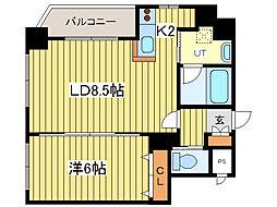 サンフォレスト菊水[9階]の間取り