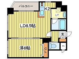 サンフォレスト菊水[8階]の間取り