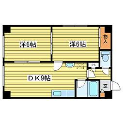 ラフォーレ33[1階]の間取り