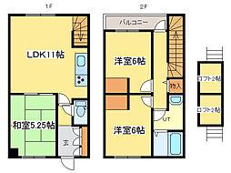 [テラスハウス] 北海道札幌市東区東雁来十条2丁目 の賃貸【/】の間取り