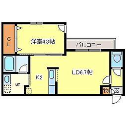 ENCHAN−THE環状通東[3階]の間取り
