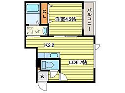 フォートレスN14[1階]の間取り