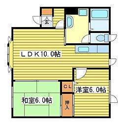 メゾン17II[3階]の間取り
