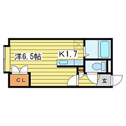 ローヤルハイツ文京台[2階]の間取り
