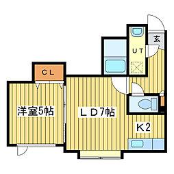 ティークリスタル[3階]の間取り