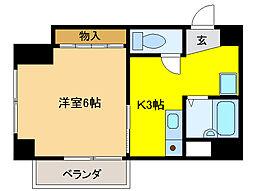 ツツミフローレ[2階]の間取り