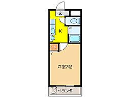 グラナイト尼ケ崎[3階]の間取り