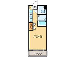 ブラウン・アベニュー・カメタ[2階]の間取り