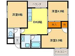 エステイタス GH7[3階]の間取り