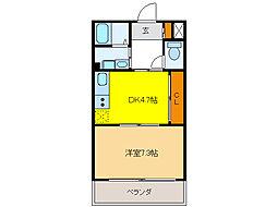アビタシオンII[3階]の間取り