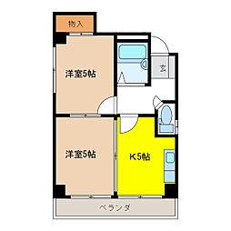 浅井ビル[4階]の間取り