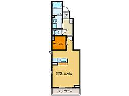 キングフルハウス[1階]の間取り