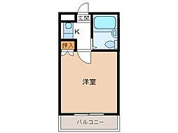 ユウパレス穴田[5E号室]の間取り